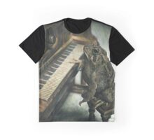 Frog playing the Piano, drawing Graphic T-Shirt