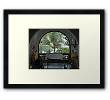 Altar amid Palms Framed Print