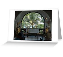 Altar amid Palms Greeting Card