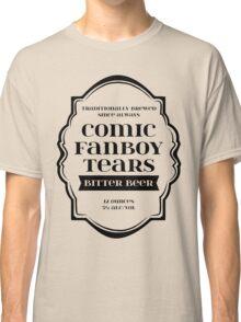 Comic Fanboy Tears Bitter Beer - Bottle Label Design Classic T-Shirt