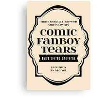 Comic Fanboy Tears Bitter Beer - Bottle Label Design Canvas Print