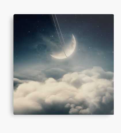 The swinging moon Metal Print