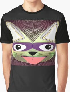 Cat. Mod Cat with Cats-eye Glasses Graphic T-Shirt