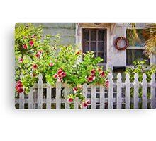 Shabby Chic Beach Cottage   Canvas Print