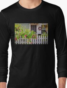 Shabby Chic Beach Cottage   Long Sleeve T-Shirt