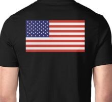 American Flag, Stars & Stripes, Pure & Simple, America, USA, on BLACK Unisex T-Shirt
