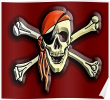 Buccaneers, Jolly Roger, Pirate Party, Pirate, Cap, Skull & Crossbones,  Poster