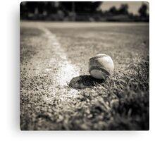 Baseball on the Edge Canvas Print