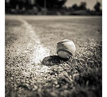 Baseball on the Edge Photographic Print