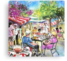 Friday Morning Market In Turre Canvas Print