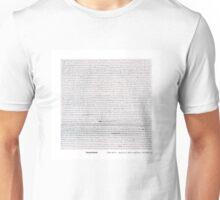 Brand New lyric sheet Unisex T-Shirt