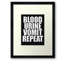 Brock Lesnar - Blood Urine Vomit Repeat Framed Print