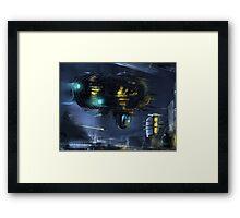 WickerShip. Sci-Fi. Framed Print