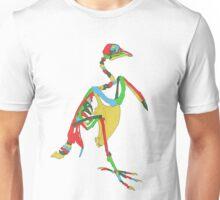 Aztecan Pigeon Skeleton Unisex T-Shirt