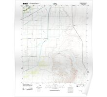 USGS TOPO Map Arizona AZ Parker SE 20111206 TM Poster