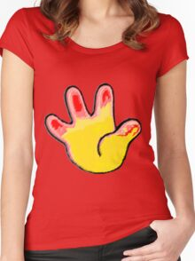 Kiss My Booboo PLEASE Women's Fitted Scoop T-Shirt