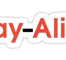 Stay Alive (Black and Red) Sticker