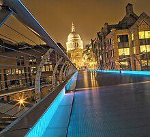 Millennium Bridge, London, England by Justin Mitchell