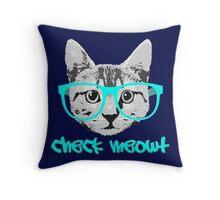 Check Meowt - Funny Saying Throw Pillow
