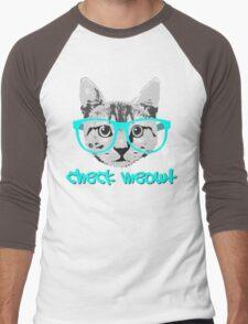 Check Meowt - Funny Saying Men's Baseball ¾ T-Shirt