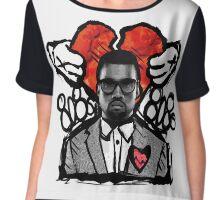 Kanye 808's artistic print Chiffon Top