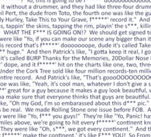 The Drunk History of FOB Sticker