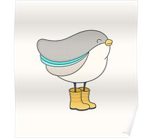 bird in boots Poster