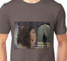 Claire thinking of Jamie at Lallybroch Unisex T-Shirt