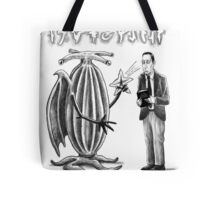 HP Lovecraft and Elder Thing Tote Bag