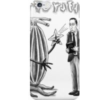 HP Lovecraft and Elder Thing iPhone Case/Skin