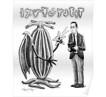HP Lovecraft and Elder Thing Poster