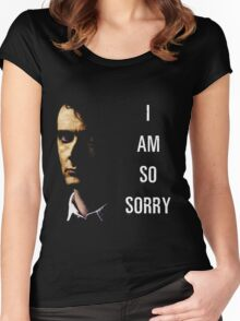 I Am So Sorry Women's Fitted Scoop T-Shirt