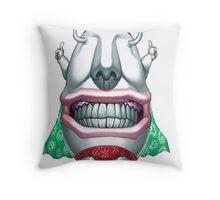 ojama king yugioh Throw Pillow