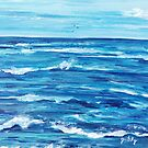 Choppy Ocean Painting by gretzky