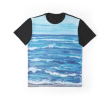 Choppy Ocean Painting Graphic T-Shirt