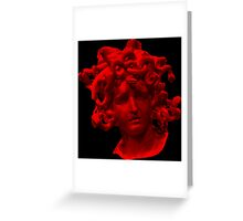 Red Medusa Greeting Card