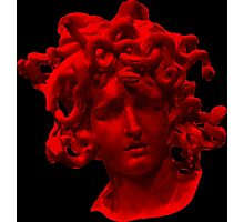 Red Medusa Photographic Print
