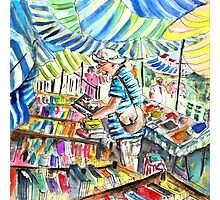 Book Stall on Turre Market Photographic Print