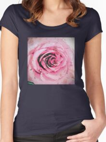 Urban Floral 3 Women's Fitted Scoop T-Shirt