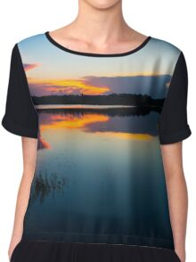 Blue Sky and Water  Chiffon Top