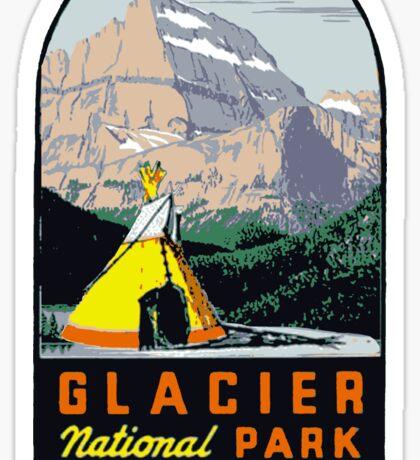 Glacier National Park Vintage Decal USA Sticker