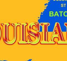 Colorful Louisiana State Pride Map Silhouette  Sticker