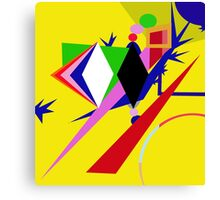 Yellow abstraction Canvas Print