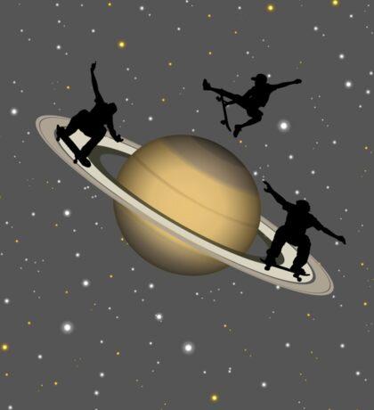 Skateboarding Saturn Sticker