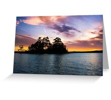 Bold Clouds Over Lake Martin Greeting Card