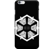 The Sith Code in Sherman's Circular Gallifreyan iPhone Case/Skin
