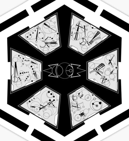 The Sith Code in Sherman's Circular Gallifreyan Sticker