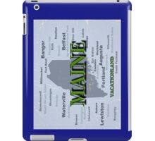 Aged Maine State Pride Map Silhouette  iPad Case/Skin