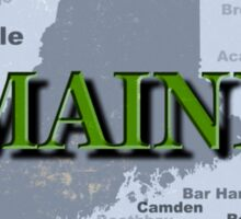 Aged Maine State Pride Map Silhouette  Sticker