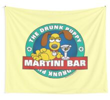 Drunk Puppy Martini Bar Wall Tapestry